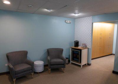 Inside Elska Dental Reception Area